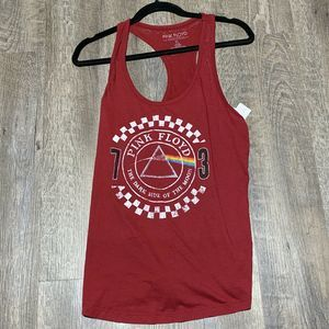 Pink Floyd Burgundy Dark Side Of The Moon Tank Top
